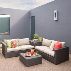 Royal Garden Forest Park 4-Piece Outdoor Wicker Sectional Set
