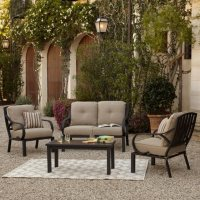 Deals on Royal Garden St. James 4-Piece Patio Conversation Set
