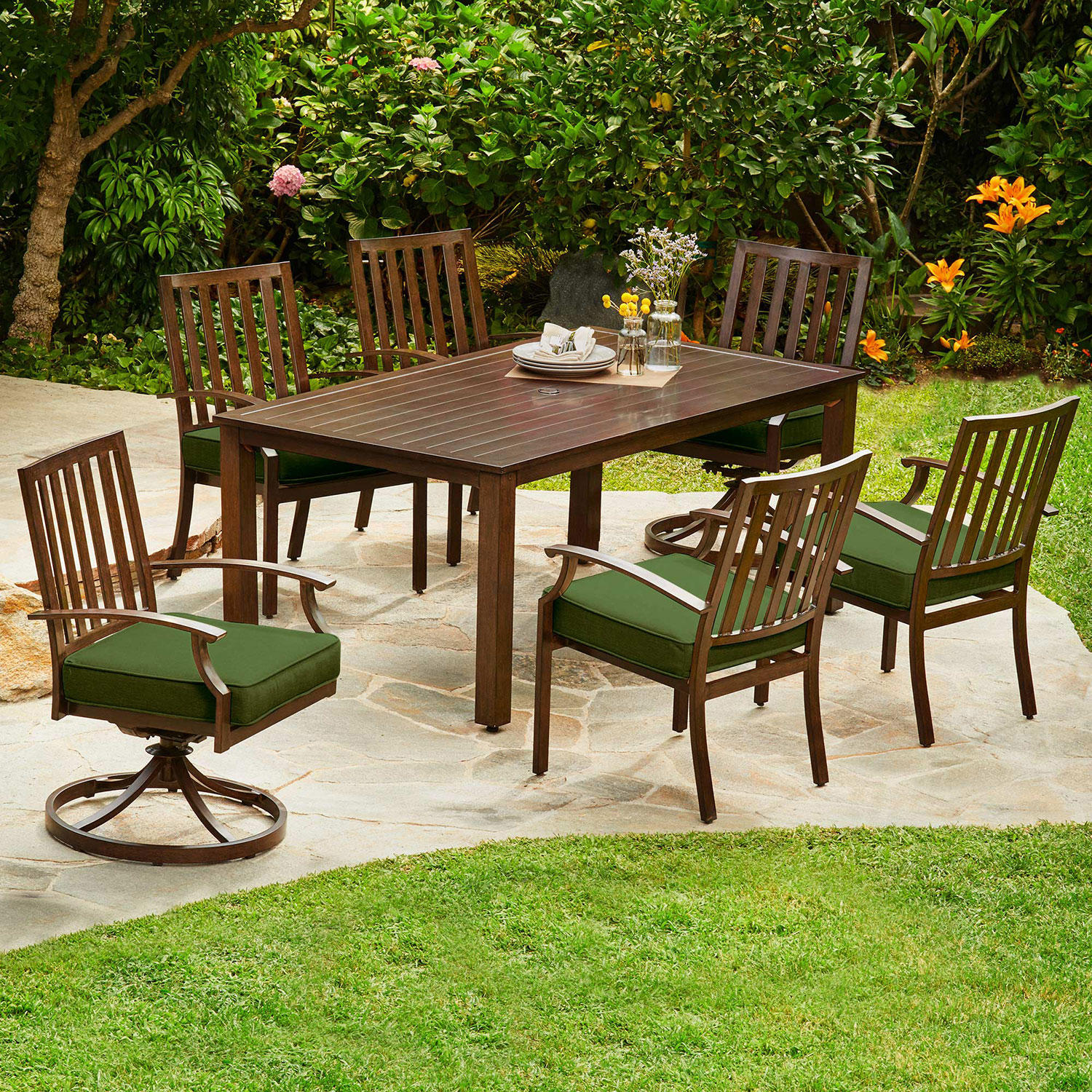 Royal Garden Oakmont 7-Piece Patio Cushion Dining Set