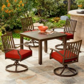 Royal Garden Oakmont 5-Piece Patio Cushion Dining Set (Various Colors)