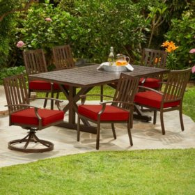 Royal Garden Oakmont 7-Piece Patio Cushion Dining Set (Various Colors)