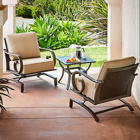 Royal Garden Monte Carlo 3-Piece Patio Seating Chat Set (Various Colors)