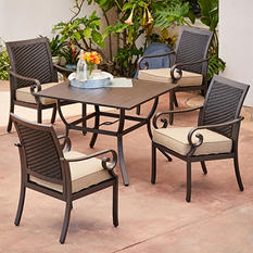Royal Garden Monte Carlo 5-Piece Patio Dining Set (Various Colors)