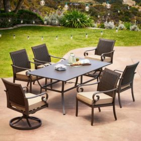 Prime Royal Garden Monte Carlo 7 Piece Patio Dining Set With Two Evergreenethics Interior Chair Design Evergreenethicsorg