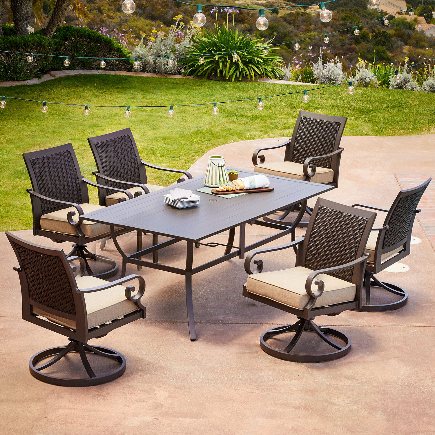 7-Piece Royal Garden Monte Carlo Patio Dining Set With Chairs (Various Colors)