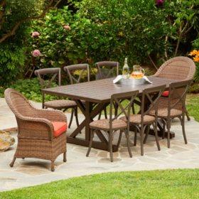 Royal Garden Boca 9-Piece Patio Dining Set