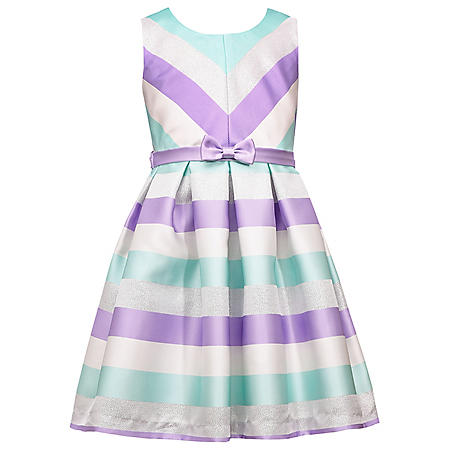 Jessica Ann Stripe Twill Party Dress