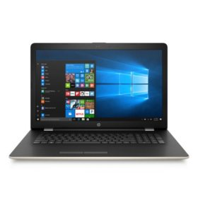 "HP 17.3"" HD+ Notebook - Intel Core i5-7200U Processor - 8GB Memory - 1TB Hard Drive - Optical Drive - HD Webcam - Backlit Keyboard - Windows 10 Home - Available in Space Grey and Silk Gold"