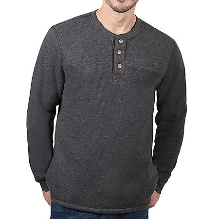 Lee® Men's Sherpa Lined Thermal Henley (Assorted Colors)