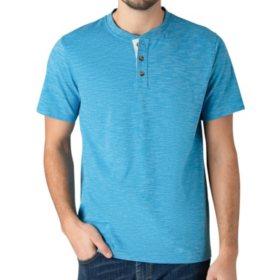 Lee Men's Short Sleeve Textured Henley (Assorted Colors)