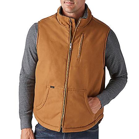 Lee Men's Sherpa Lined Canvas Vest