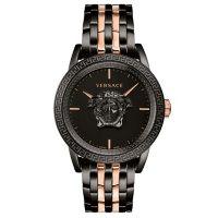 Versace Men's Palazzo Empire Rose Gold/Black Stainless Steel Bracelet Watch, 43mm