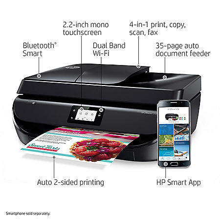 HP OfficeJet 5258 Wireless All-in-One Printer - Instant Ink Ready