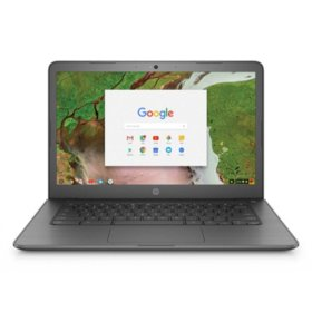 "HP 14"" Touchscreen HD Chrome Notebook, Intel Celeron N3350 Processor, 4GB Memory, 32GB eMMC HDD, Intel HD Graphics 500, HD Webcam, B&O Play Audio, Chrome OS (Choose Color)"