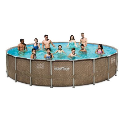 20 X48 Summer Waves Eliteframe Pool Set With Mosaic Printing Sam S Club