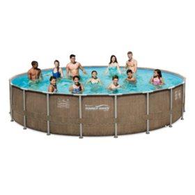 X Summer Waves Eliteframe Pool Set With Mosaic Printing