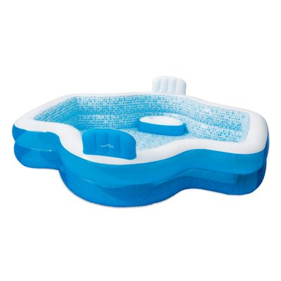 Summer Waves Inflatable Family Pool With Mosaic Interior Print Sam S Club