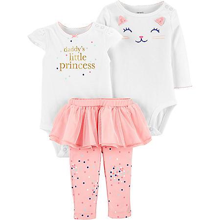 Carter's 3-Piece Princess Bodysuit and Tutu Set