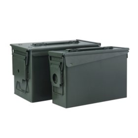 Metal Ammo Cans, 30 CAL. & 50 CAL. - 2 Pack