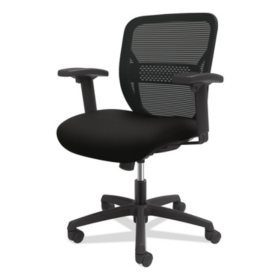 HON Gateway Mid-Back Task Chair with Adjustable Arms, Supports Up to 250 lbs. (Black)