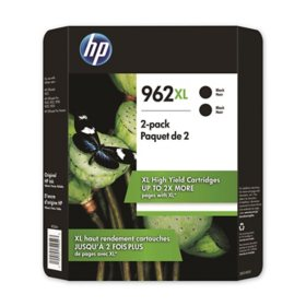 HP 962XL High Yield, Black Original Ink Cartridge, 2 Pack