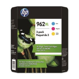 HP 962XL High Yield 3 Pack Cyan/Magenta/Yellow Original Ink Cartridge