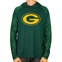NFL Men's Zubaz Hooded Long Sleeve Synthetic Shirt Green Bay Packers