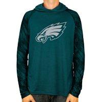 NFL Men's Zubaz Hooded Long Sleeve Synthetic Shirt Philadelphia Eagles