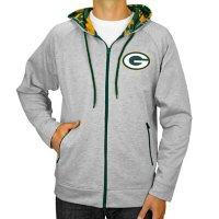 NFL Men's Zubaz Full Zip Fleece Hoodie Sweatshirt Green Bay Packers