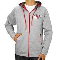 NFL Men's Zubaz Full Zip Fleece Hoodie Sweatshirt Kansas City Chiefs