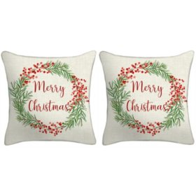 Holiday Pillow, Set of 2 (Merry)