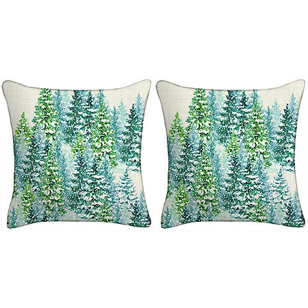 Holiday Pillows, Set of 2 (Trees)