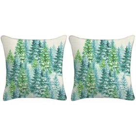 Holiday Pillow, Set of 2 (Trees)