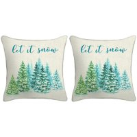 Holiday Pillows, Set of 2 (Let It Snow)