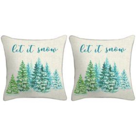Holiday Pillow, Set of 2 (Let It Snow)