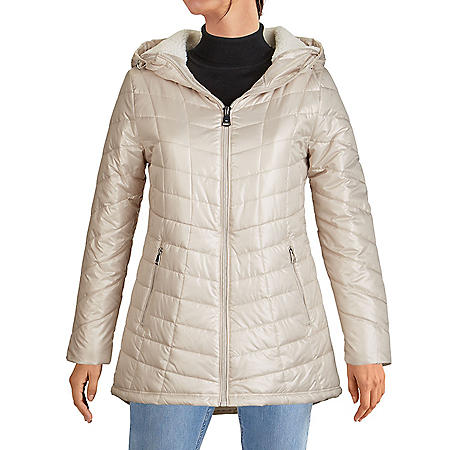 Kenneth Cole Women's Sherpa-Lined Jacket