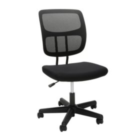 OFM Essentials Series Armless Mesh Office Chair, in Black (ESS-3002)