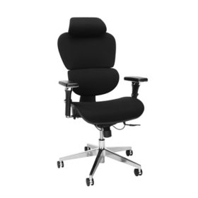 OFM Ergo Fabric Upholstered Office Chair with Optional Headrest, Lumbar Support, Choose a Color (540-F)
