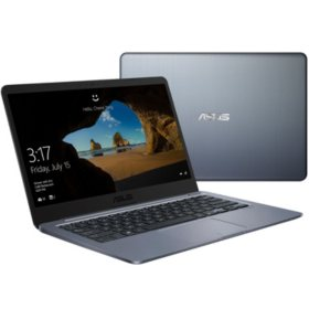 "ASUS 14.0"" HD Thin & Light Notebook, Intel Celeron N3060 Processor, 4GB Memory, 64GB eMMC Hard Drive, 2 Year Warranty, Windows 10 Home"