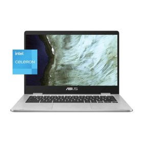 "ASUS - 14"" HD Chromebook -  Intel Celeron N3350 - 4GB DDR4 - 64GB eMMC - Nano-Edge Display - Chrome OS"
