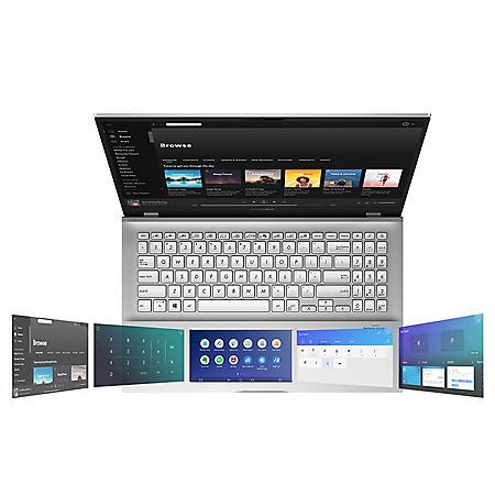 "ASUS Vivobook 15.6"" FHD Laptop, Intel Core i7-8565U Processor, 8GB Memory, 512 SSD Storage, ScreenPad 2.0, 2 Year Warranty + 1 Year ADP, Silver"