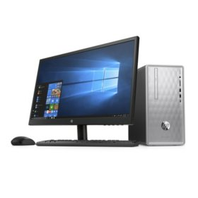 "HP 22"" Desktop Bundle: 22"" Monitor, AMD A12-9800 Processor, 8GB Memory, 2TB Hard Drive"