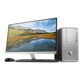 "HP Pavilion 27"" Desktop Bundle:  27"" Monitor, Intel Core i5-8400 Processor, 24GB Memory:  16GB Intel Optane + 8GB RAM, 2TB Hard Drive, Optical Drive, 5.1 Surround Sound, Keyboard and Mouse, 2 Year Warranty Care Pack, Windows 10 Home"