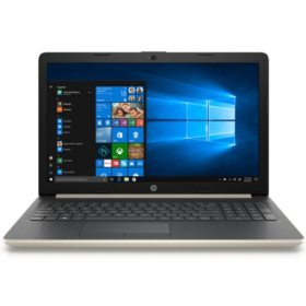 "HP 15.6"" HD Notebook, Intel Core i5-8250U Processor, 24GB Memory:  16GB Intel Optane + 8GB RAM, 1TB Hard Drive, Backlit Keyboard, Optical Drive, HD Webcam, HD Audio, 2 Year Warranty Care Pack, Windows 10 Home, Pale Gold"