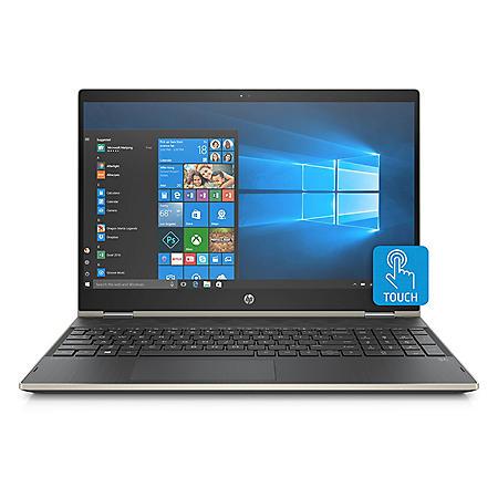 "HP Pavilion X360 Convertible Touchscreen 15.6"" Full HD IPS Notebook, Intel Core i7-8550U Processor, 24GB Memory:  16GB Intel Optane + 8GB RAM, 1TB Hard Drive, HD Wide FOV Webcam, B&O Play Audio, 2 Year Warranty Care Pack, Windows 10 Home Plus, Pale Gold"