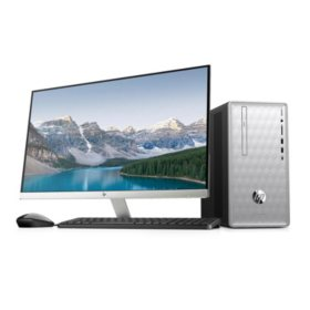 "HP 27"" Desktop Bundle: 27"" Monitor, AMD Ryzen R5 Processor, 8GB Memory, 2TB Hard Drive, 2 Year Warranty Care Pack, Windows 10 Home"