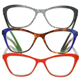 OPTIQUE Trifecta Cateye Reading Glasses (3 pack)