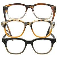 OPTIQUE Trifecta Round Reading Glasses (3 pack)