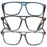OPTIQUE Trifecta Aviator Reading Glasses (3 pack)