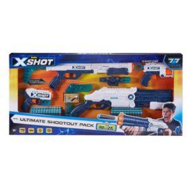 X-Shot Ultimate Shootout Pack (4 Blasters, 72 Darts)